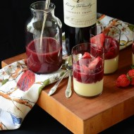 Elegant Cabernet Strawberry Rhubarb Pudding