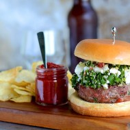 Tabouleh Turkey Burgers with Feta and Harissa
