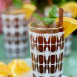 Closeup of Orange Chai Iced Tea Web 3