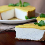 Mango Lassi No Bake Cheesecake