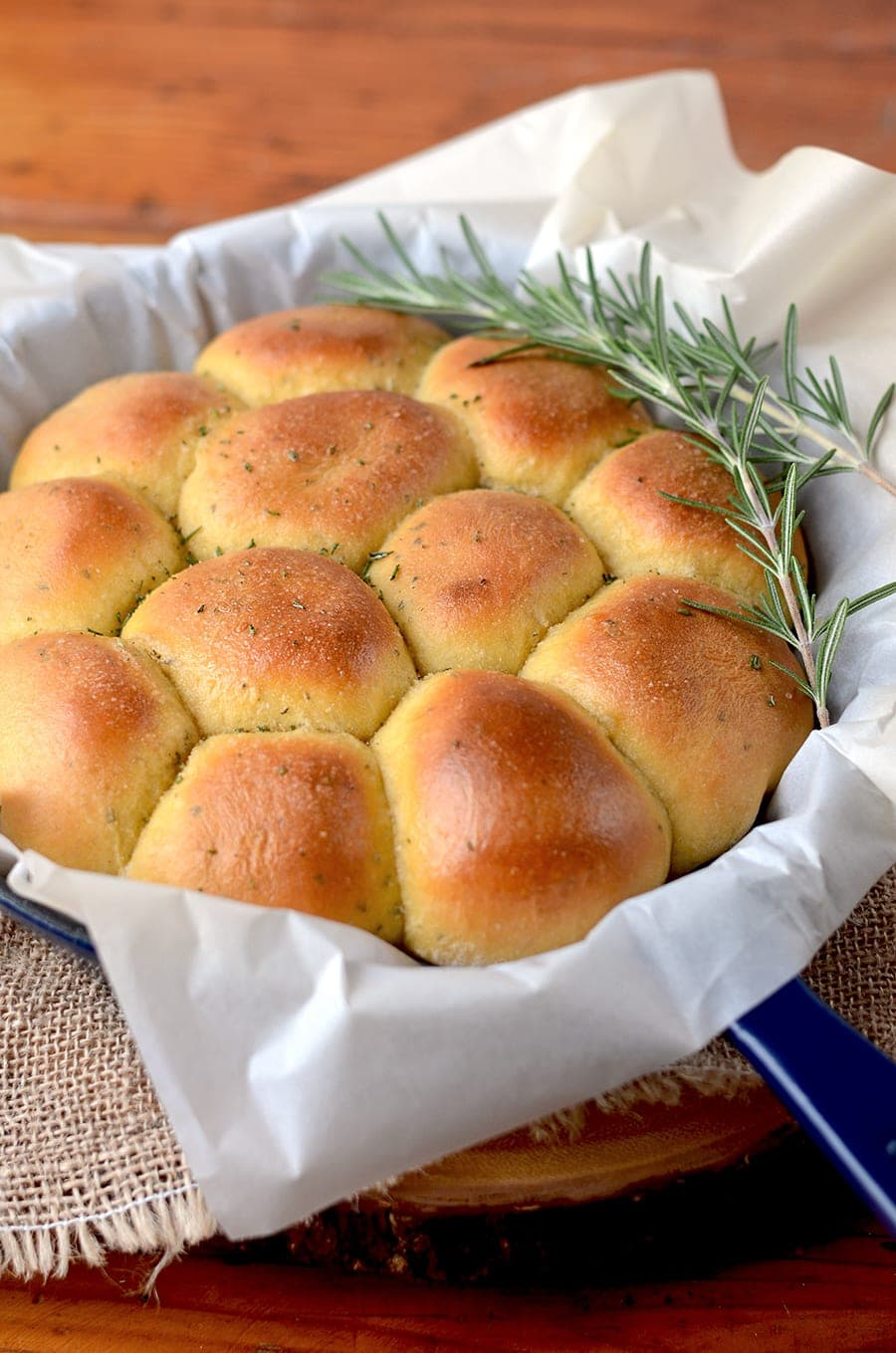 This versatile and delicious recipe will make your holiday dinner prep so much easier! This dough not only makes fabulous Rosemary Sweet Potato Rolls, but it can also be used as pizza dough!