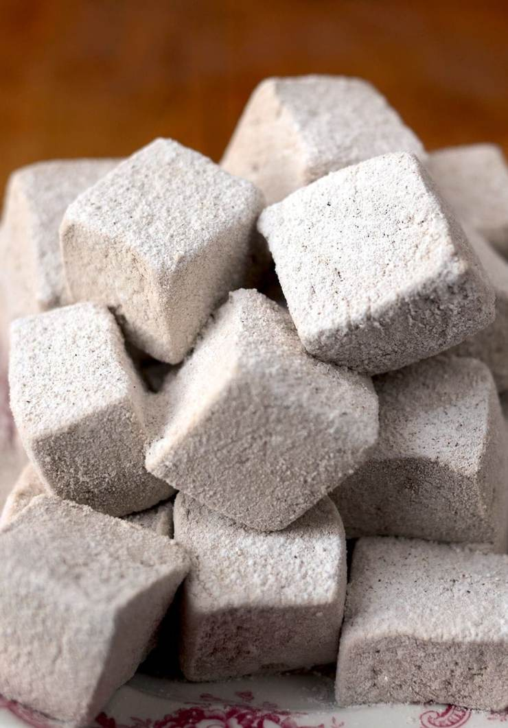 An abundance of fresh ginger gives these Spicy Gingerbread Marshmallows their kick! These pillowy candies are an excellent in coffee or hot chocolate!