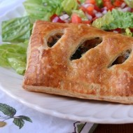 Sausage and Kale Puff Pastry Pockets with Parmesan and Mozzarella