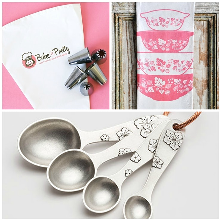 It's our 2nd birthday so we are thanking you with a BAKING GIVEAWAY! Great baking starts with having great tools and here are some of my favorites! These beautiful items are loaded with vintage style and valued at over $150!