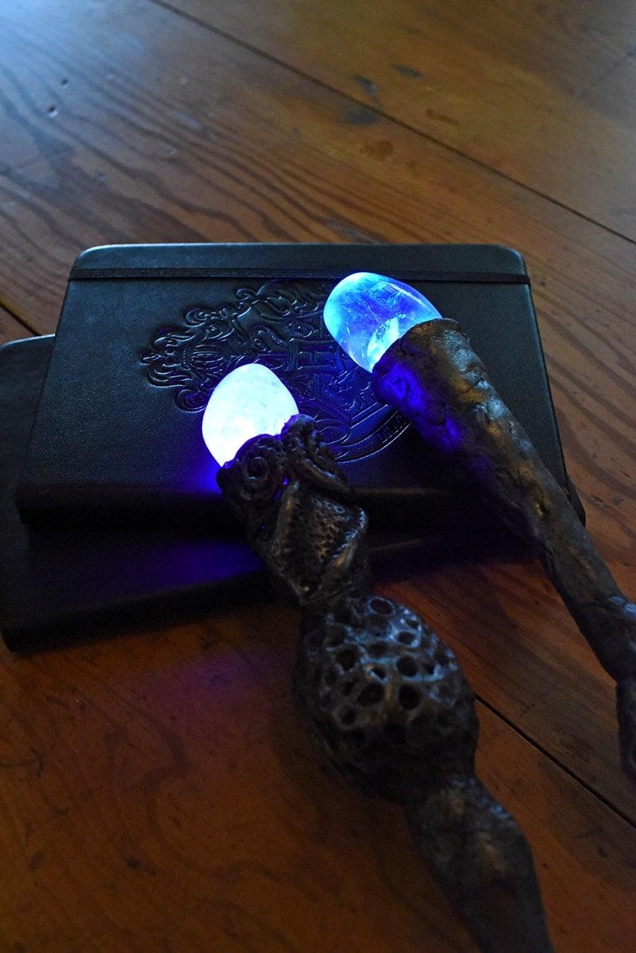 Wands glowing in the dark