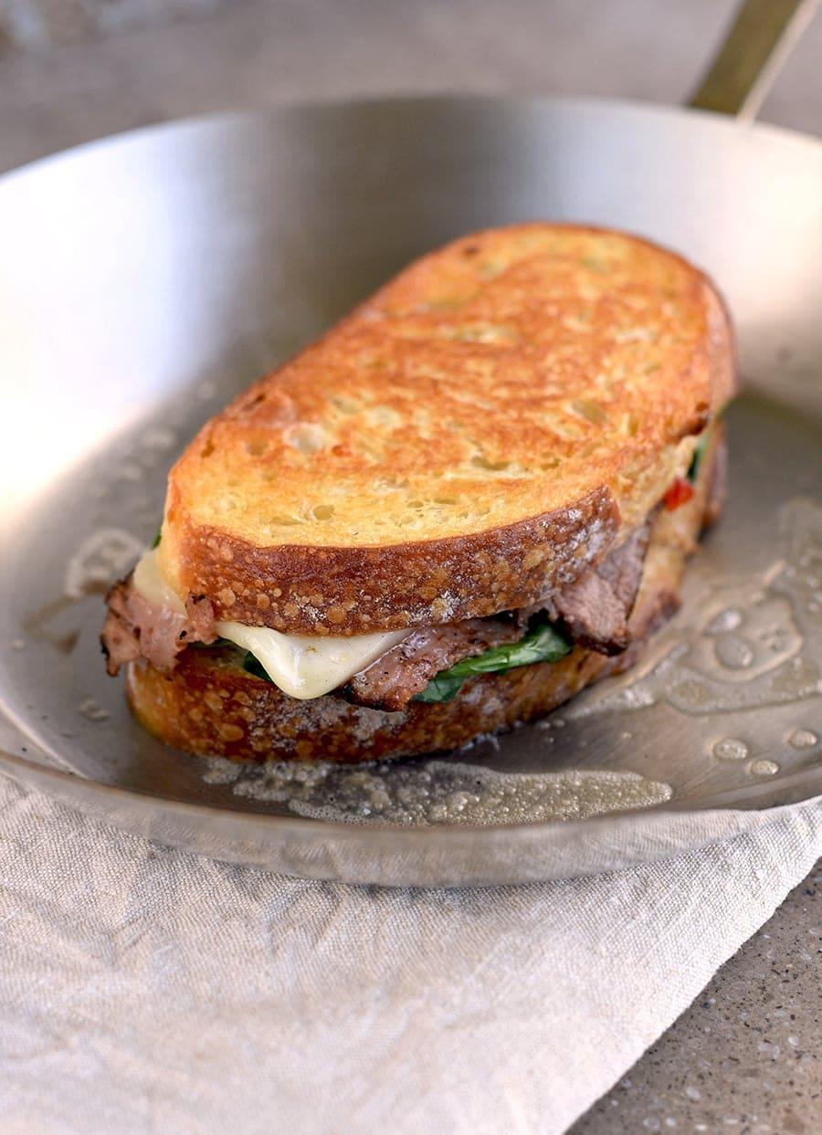 Coffee Rubbed London Broil Steak Sandwich