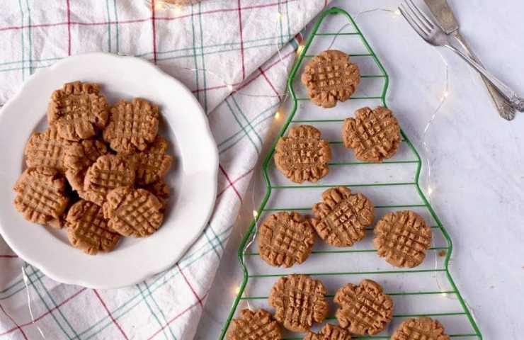 Vegan Peanut Butter Cookies- Crispy Outside, Chewy Inside!