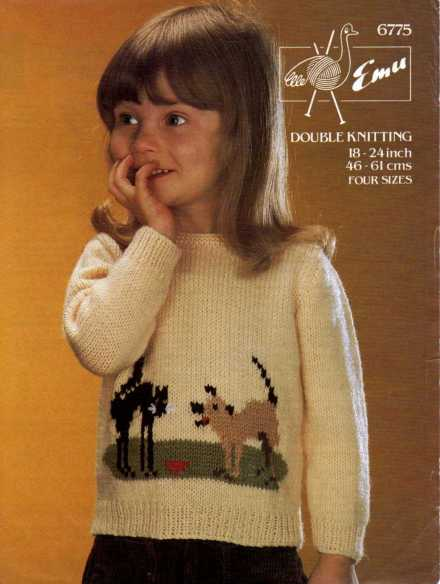 Kids Sweater with Cat and Dog