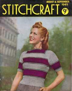 Stitchcraft Aug 1945 free knitting pattertns