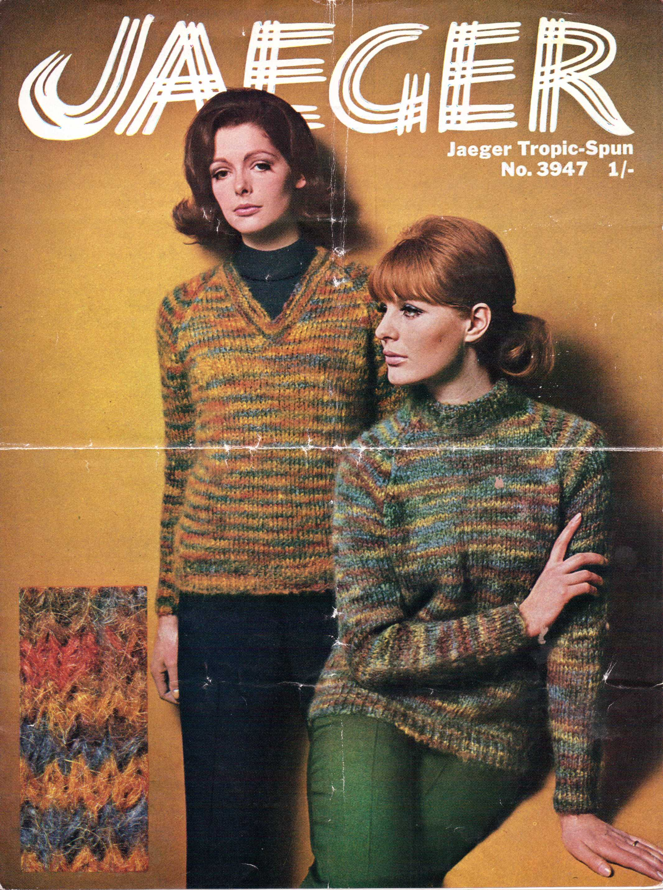 Free Vintage Knitting Pattern Beatnik Chick Turtle Neck From Jaeger 60s Vintage Knitting Pattern Archive