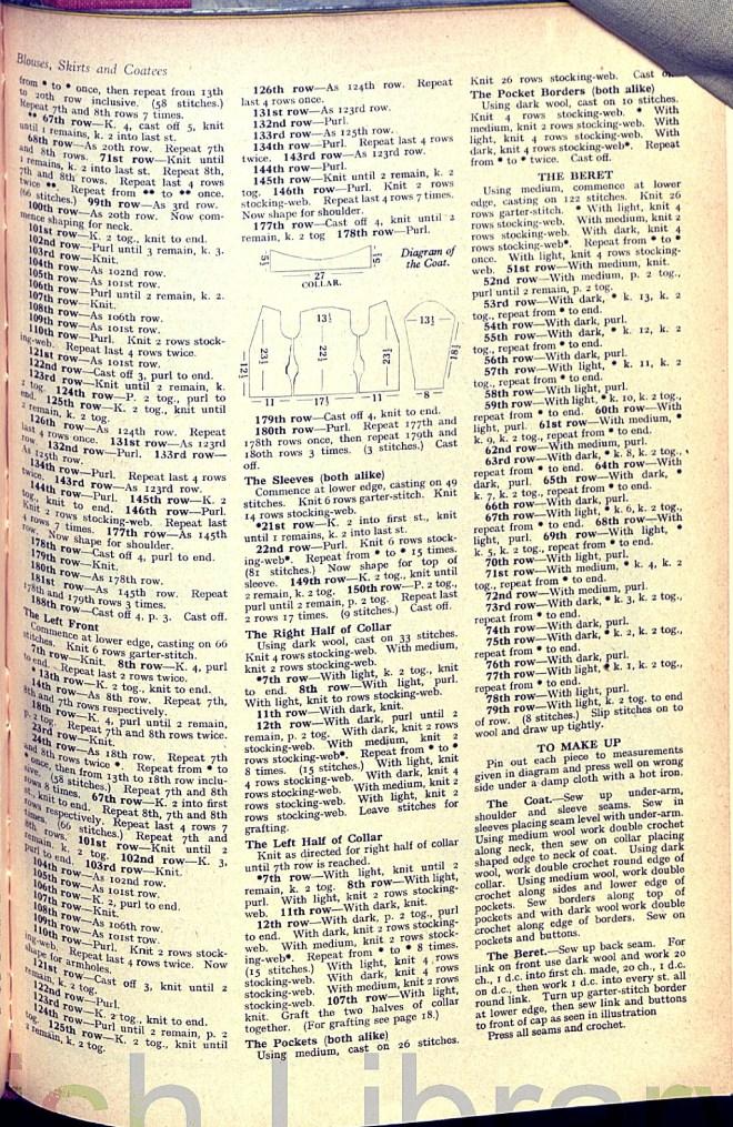 Weldon's Transfer Series Knitting Pattern 30s cap cardigan jacke