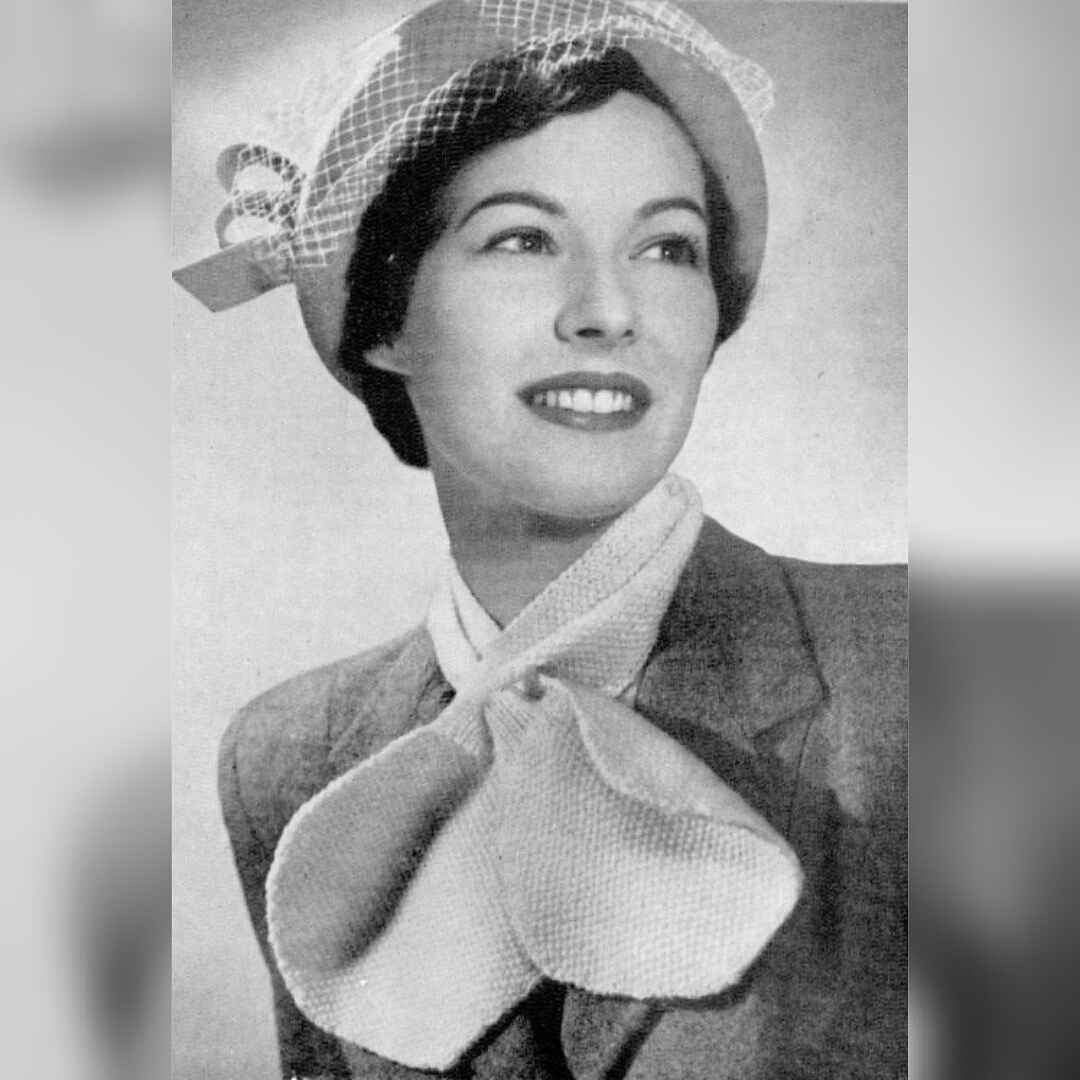 Free Vintage Knitting Pattern – Cravat or Miss Marple Scarf from 1948 f02f83703bc