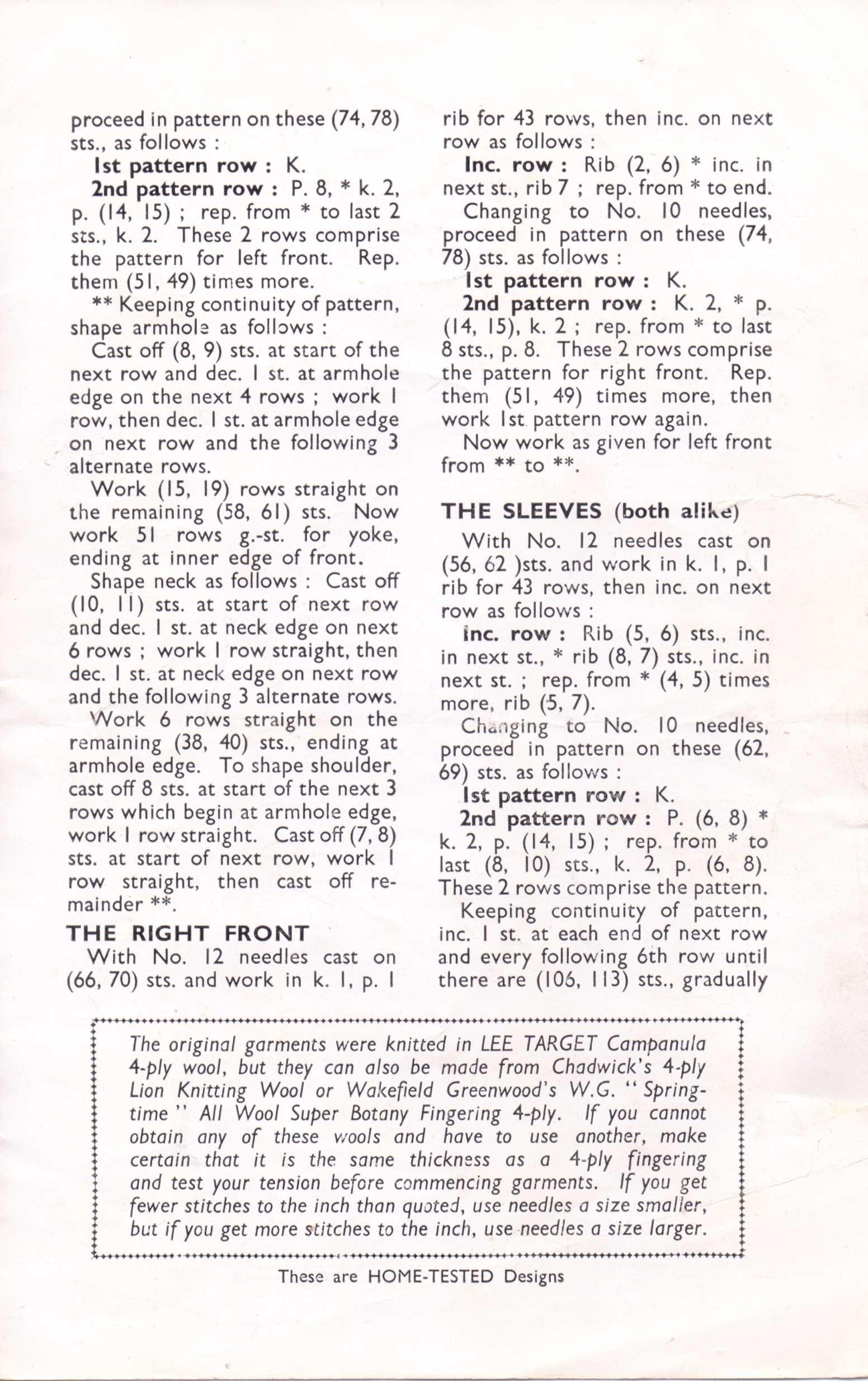 04e82cf84428 Free Vintage Knitting Pattern  Men s Lumber Jacket from 1940s ...