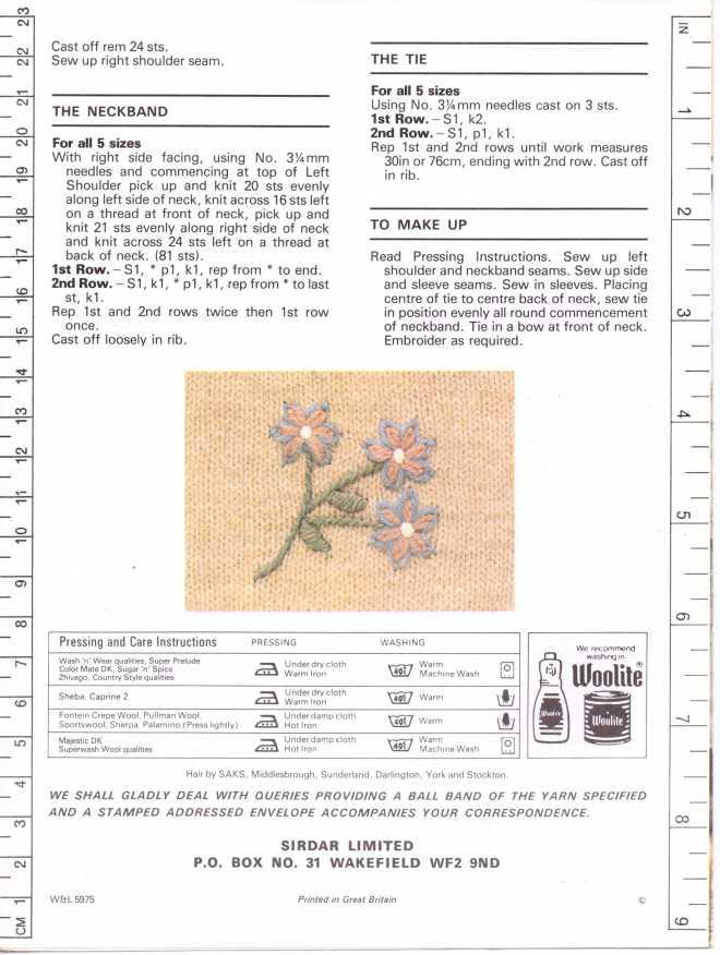 Sirdar 5975 ladies jumper free knitting pattern 3