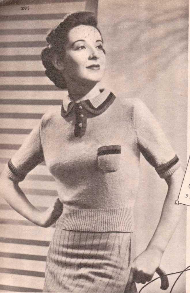 Weldon's Ladies Journal 1938 free knitting pattern