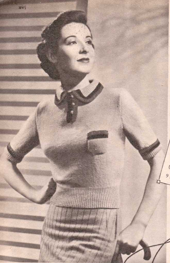 Weldon's Ladies Journal 1938 free knitting pattern