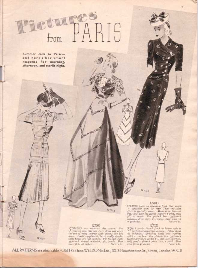 Weldon's Ladies Journal 1938 free knitting pattern6