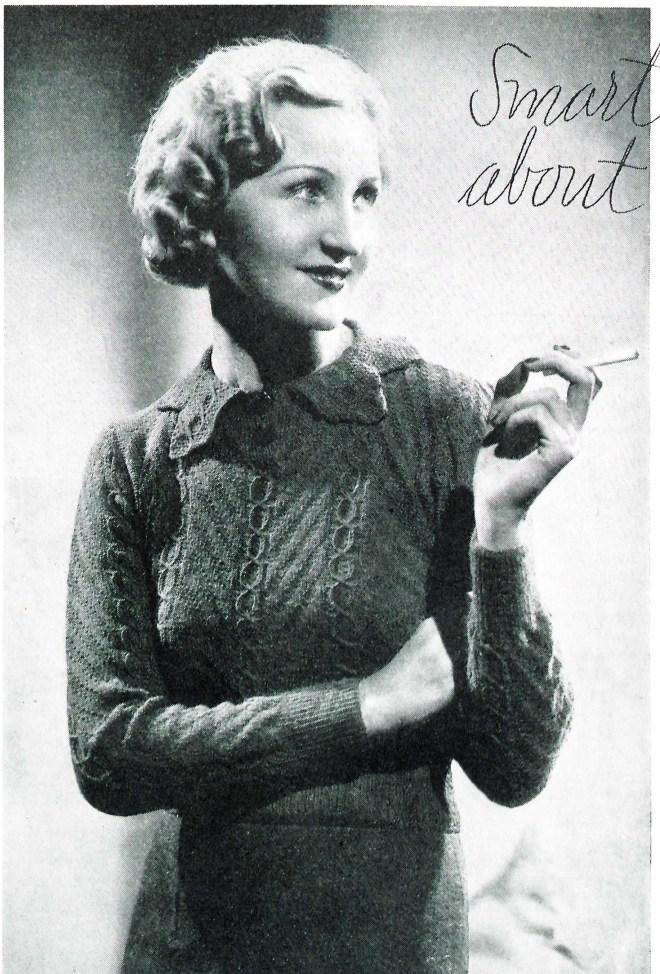 free vintage knitting pattern 30s jumper