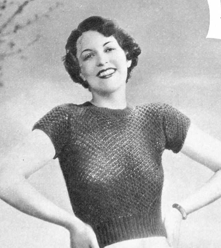 Weldon's Ladies Journal 1935 free knitting pattern