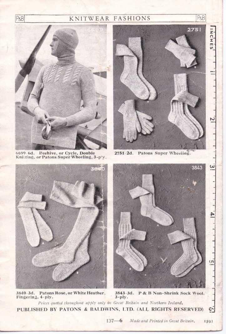 men's socks free knitting pattern 5