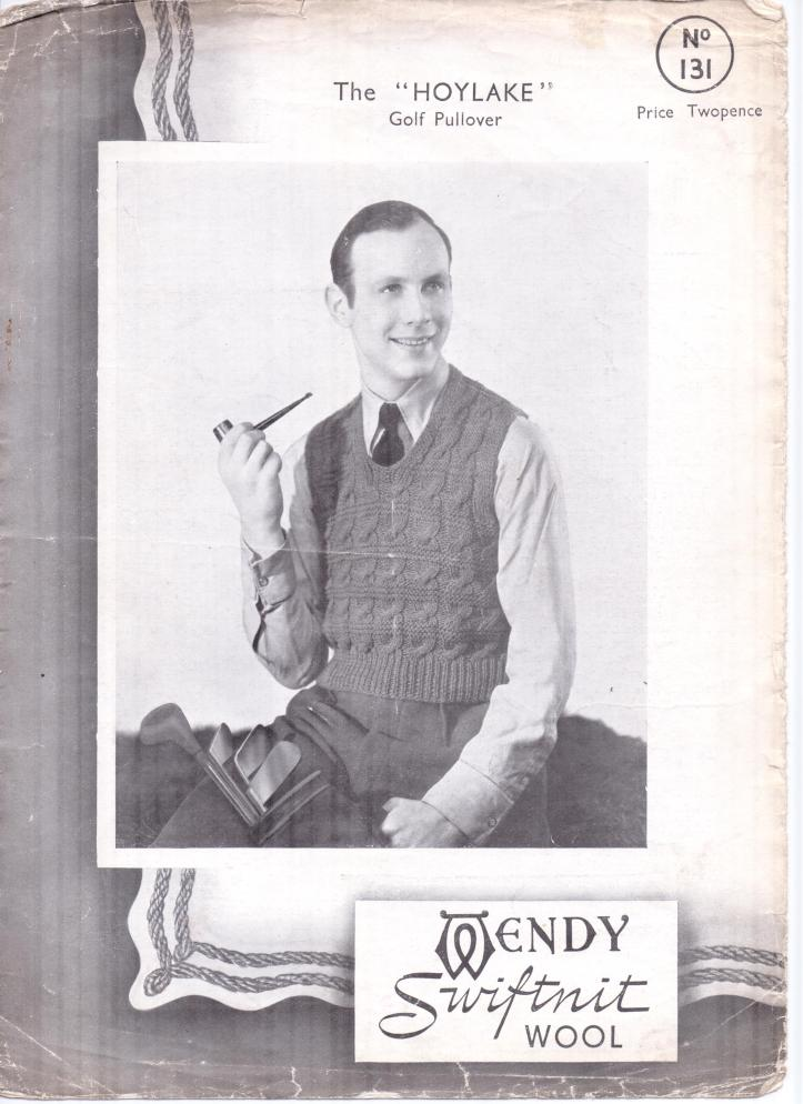 Free Pattern Men S Golf Pullover From Wendy Swiftknit Vintage