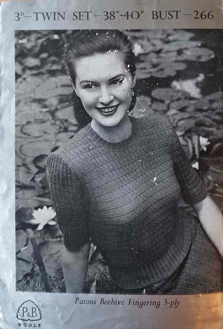 Les années 1940 Betty Twin Set PDF Knitting Pattern copie