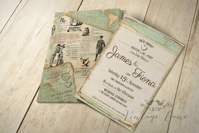 Wedding Invitations Travel Theme How To Make Your Own Using Word 8