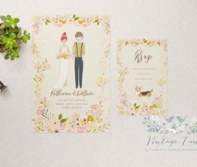 Personalised Wedding Character Illustration Wedding Illustration Bride And Groom Drawing Sketch Illustration Ireland Cork Dublin Kerry
