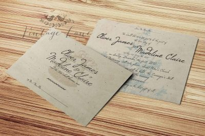 Vine Style Wedding Invitation Rustic Card Invites