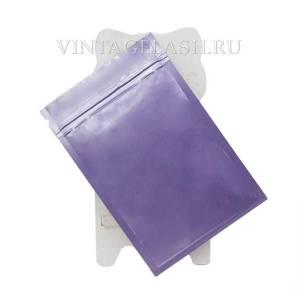 Алюминиевый герметичный пакет с зип застежкой 10х15 см