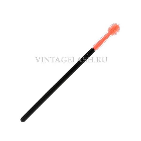 Щеточка силиконовая оранжевая шарообразная 1 шт.