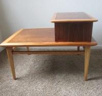 Mid Century End Table / Lane Furniture / Danish Style ...