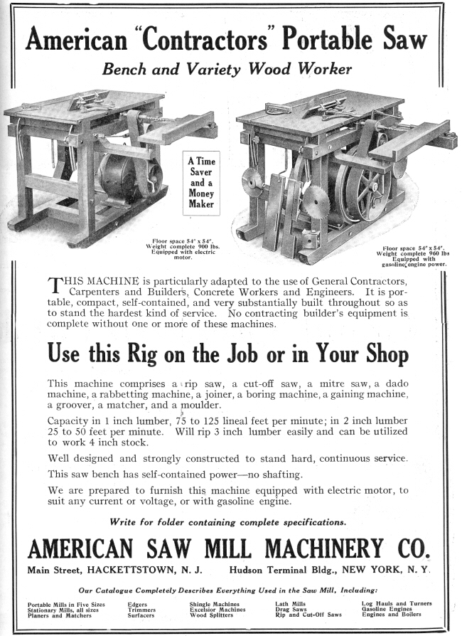 American Sawmill Machinery Co Hackettstown N J