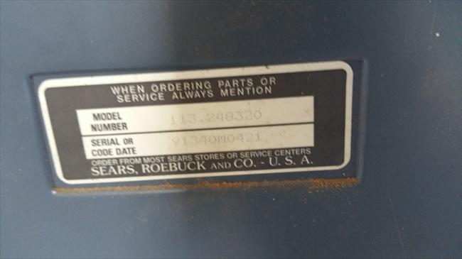 Sears Serial Number Manufacture Date