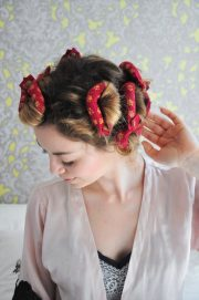 curly 1940s hair - easy tutorial