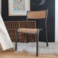 Chaise de maternelle bois brut