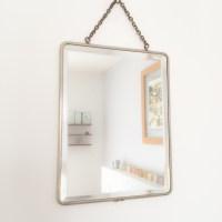 Miroir de barbier verre biseauté