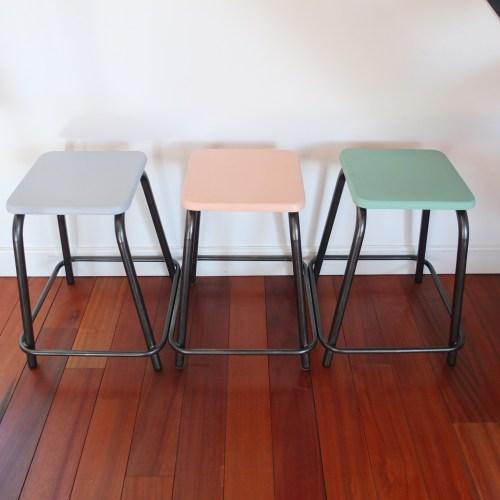 Le tabouret d'atelier en couleur!