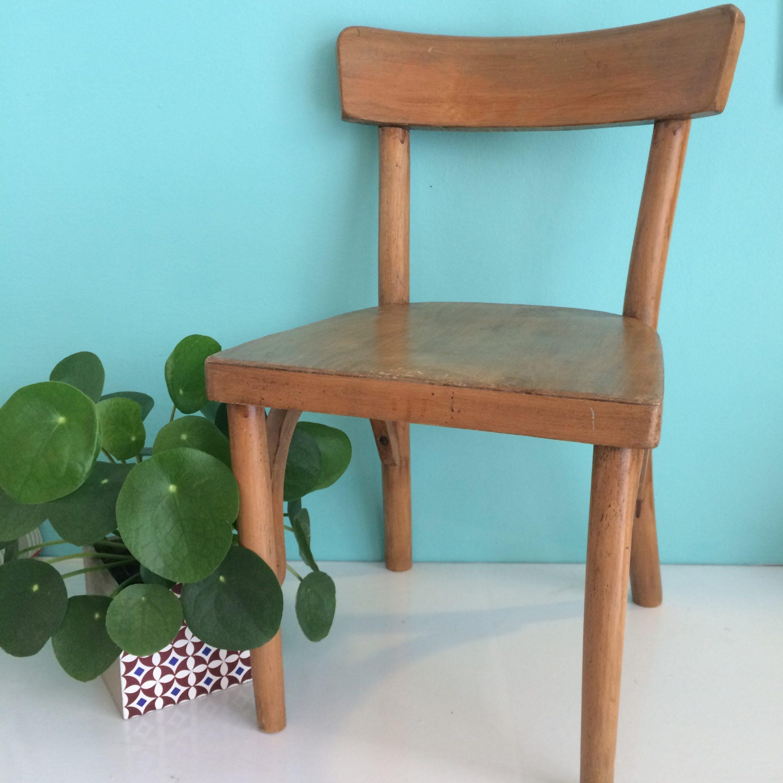 chaise enfant baumann bois brut vintage magic. Black Bedroom Furniture Sets. Home Design Ideas