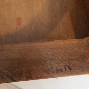 Chaise enfant Baumann, bois brut