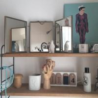 Miroir de barbier, triptyque et liberty mitsi