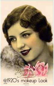 1920s flapper makeup vintage