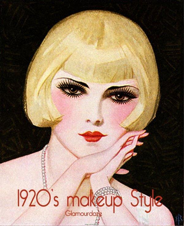 1920s Flapper Makeup Look | Vintage Makeup Guides