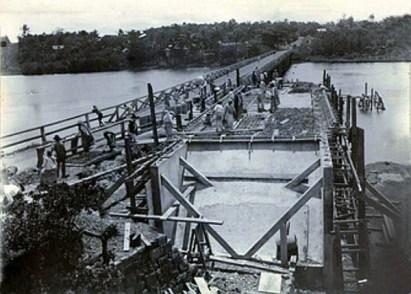 Construction of new Higginson Bridge