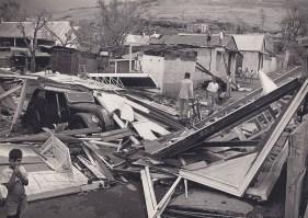 Cyclone Carol in Port Louis - Feb 1960 - (Courtesy: Paturau)