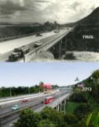 Coleville Bridge - Mont Ory - 1960s/2013