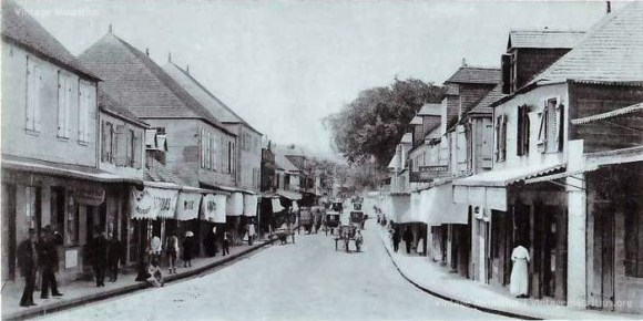 Port Louis- La Chaussee Street - Before the Fire of 1893