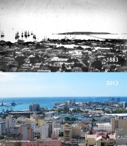 Port Louis Harbour from Citadel - 1883/2013
