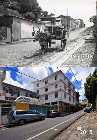 Port Louis - Dauphine Street - 1950s/2015