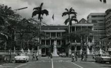 Port Louis - Place D'Armes - the Government House - Queen Elizabeth Statue - 1960s